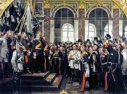 Anton von Werner: Kaiserproklamation im Spiegelsaal von Versailles am 18. Januar 1871