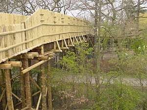 Chester Zoo - New bridge over Flag Lane