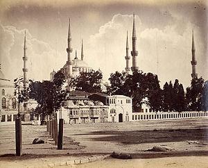 Sultan ahmet camisi nin bir görüntüsü 1895