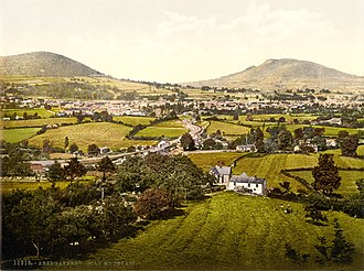 Abergavenny - Abergavenny and Holy Mountain in the 1890s