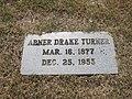 Abner D. Turner grave, Minden, LA IMG 4983.JPG