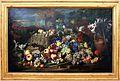 Abraham bruegel, natura morta con cane, uccello, vasi di terracotta e un rilievo antico, 01.jpg