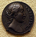 Abraham simon, medaglia su virtù e interessi della regina cristina di svezia, 1650-54.JPG
