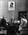 Academician Kirchenstein in his office. 1945 Riga.png