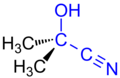Acetone Cyanhydrine Structural Formulae V.1.png