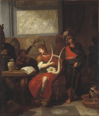 Achilles Playing the Lyre at the Arrival of the Envoys of Agamemnon