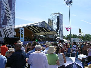 New Orleans Jazz & Heritage Festival - Acura, one of the two largest stages at Jazz Fest