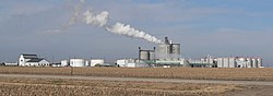 Advanced BioEnergy ethanol-production plant near Fairmont