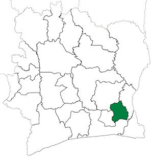 Adzopé Department - Adzopé Department upon its creation in 1969. It kept these boundaries until 2005, but other departments began to be divided in 1974.