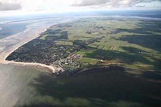 Föhr - Aerial view of Föhr