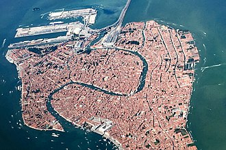 Grand Canal (Venice) - Aerial view of the Grand Canal in 2017