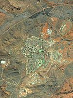 Aerial view of Newman, Western Australia