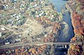 Aerial view of auto shredder and railroad bridge in Greenfield, 1982.jpg