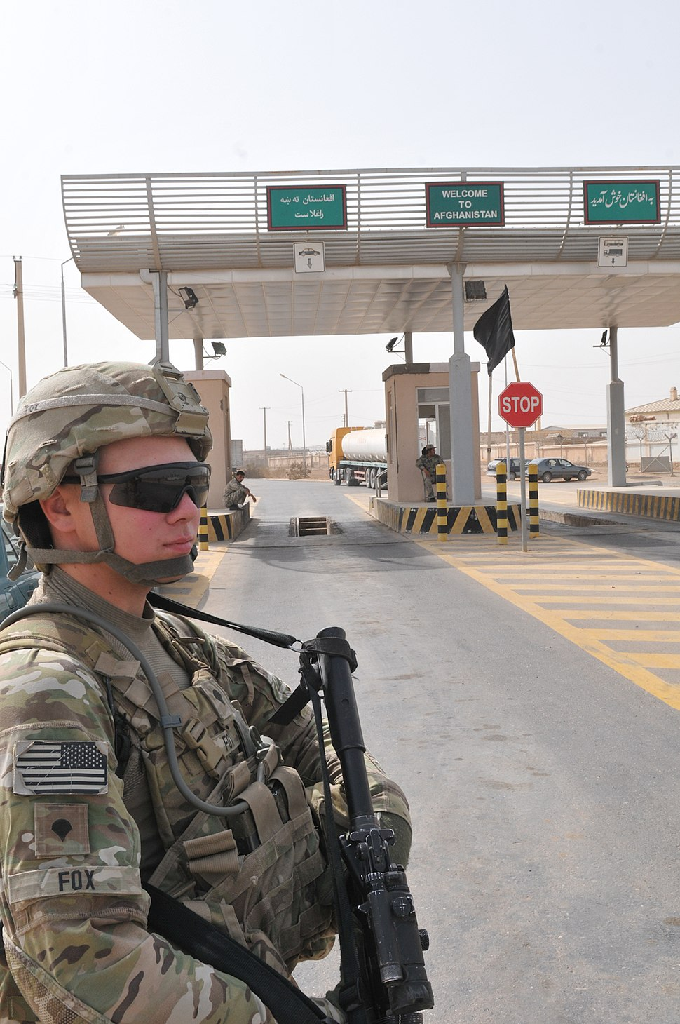 Afghan border crossing at Sher Khan in Kunduz Province-4