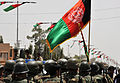 Afghanistan Flag During Hand Over of Lashkar Gah to Afghan Forces MOD 45153478.jpg