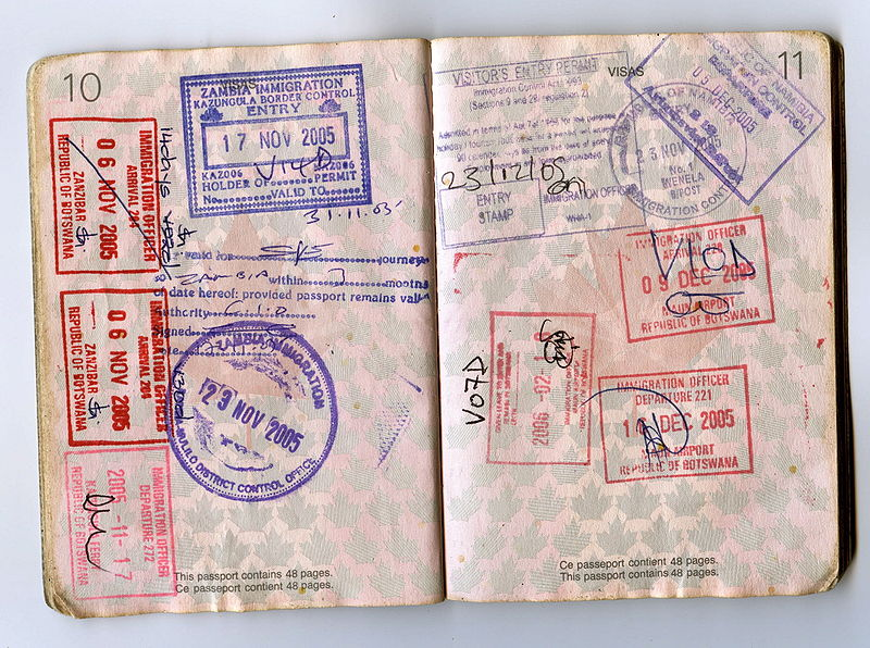 File:African passport stamps.jpg