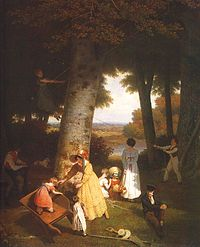 Agasse, Jacques-Laurent ~ The Playground, 1830, oil on canvas, Oskar Reinhart Collection, Winterthur.jpg