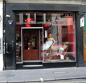 Agent Provocateur (lingerie) - Agent Provocateur's first store, on Broadwick Street Store, Soho, London