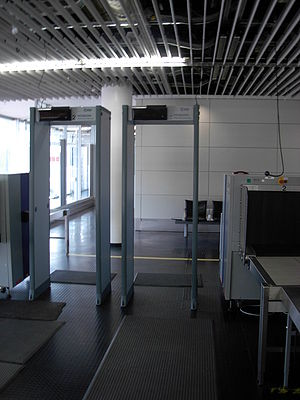 Airport security machines