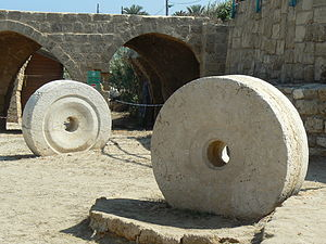 Achziv - Ancient grinding stones at Achziv National Park
