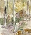 Albert Edelfelt - Metsänsisusta, suuri kivi - A III 2022-54 - Finnish National Gallery.jpg