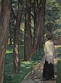 Albert Weisgerber Dame im Park 1910.jpg