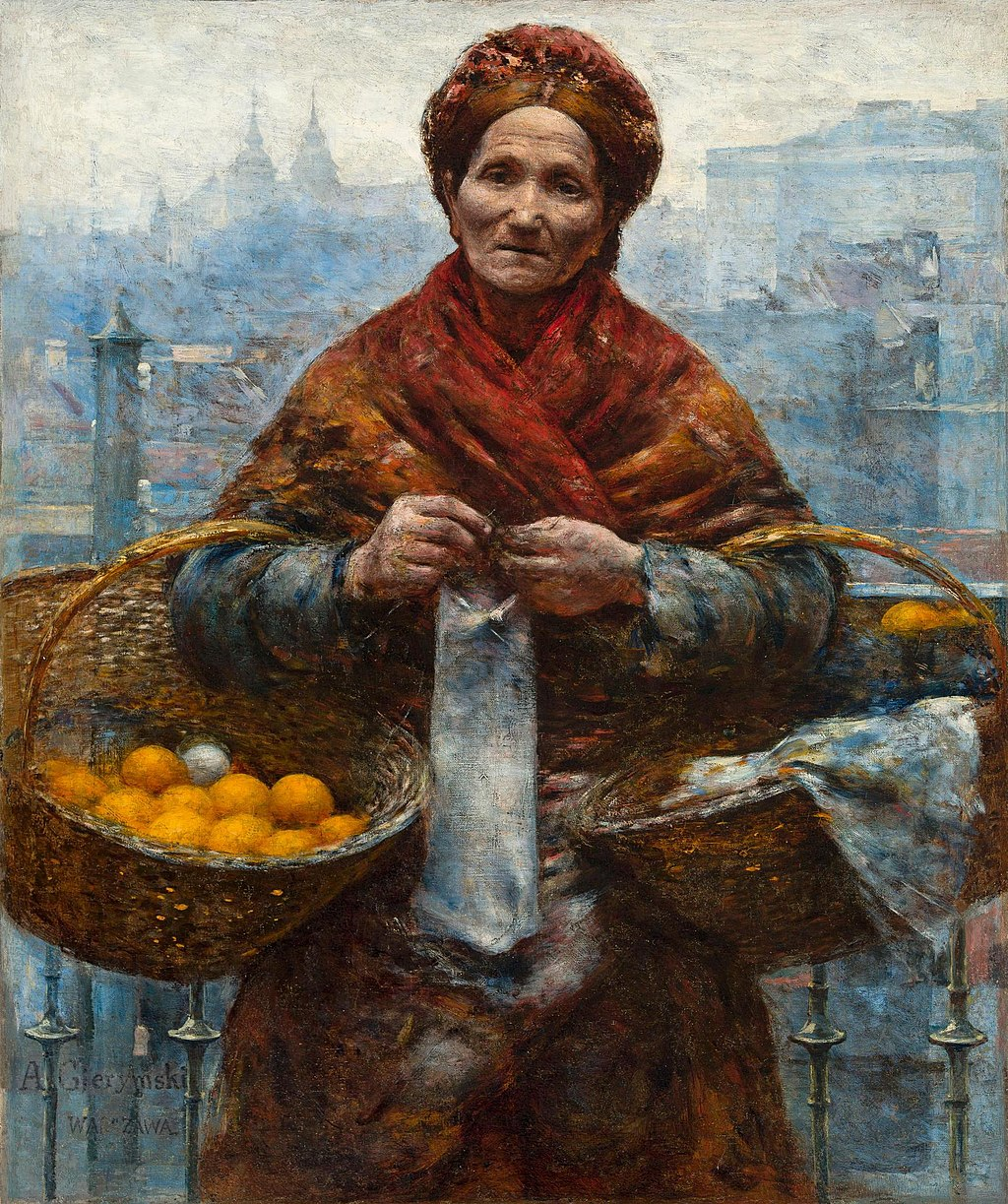 """Jewess with Oranges"" by Aleksander Gierymski"
