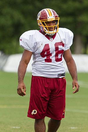 Alfred Morris (American football) - Morris at Redskins training camp in 2012.