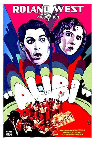 Alibi (1929 film) - Theatrical release poster