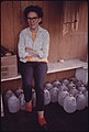 Alice Thompson, Besoco, West Virginia, Is Shown with Milk Bottles Her Neighbors Furnish Her Water with after Her Water Lines Were Cut Off. She Is Divorced From a Coal Miner Who Was Imprisoned for Killing a Man 04-1974 (3907223880).jpg