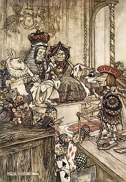 Alice in Wonderland by Arthur Rackham - 14 - Who stole the Tarts?