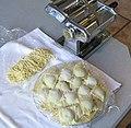 Alkaline Pasta for Ravioli (3), Sept 2010, ravioli and chitarra pasta.jpg
