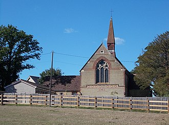 All Saints' Church, Gurnard - East face of the church.
