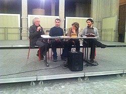 Alla casa della poesia di Milano Con Maurizio Cucchi, Giuliana Nuvoli e Amos Mattio.JPG