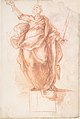 Allegorical Figure of Religion (recto); Study of a Griffon and of a Seated Figure (verso) MET DP807554.jpg