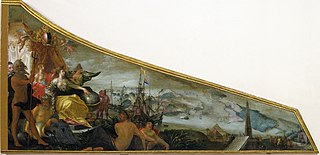 Harpsichord Lid showing an Allegory of Amsterdam as the Center of World Trade