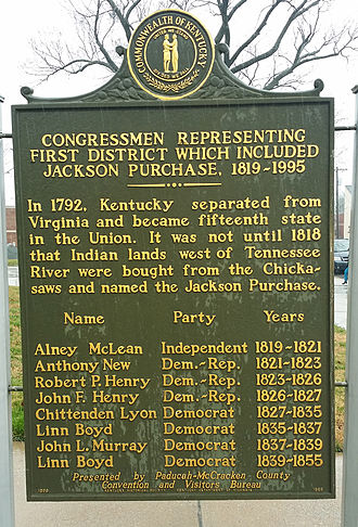 Kentucky's 1st congressional district - Image: Alney Mc Lean Paducah sign for Wiki