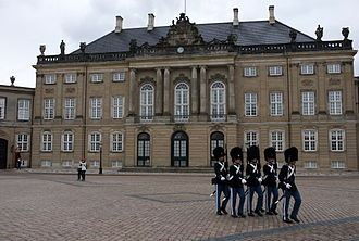 Copenhagen - A mansion at Amalienborg in Frederiksstaden (1750), part of the Amalienborg Palace