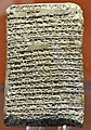 Amarna letter. Letter from the Kassite king Burna-Buriash II (in Babylonia, Mesopotamia) to the Egyptian Pharaoh Amenhotep III. From Tell El-Amarna, Egypt. Circa 1350 BCE. British Museum.jpg