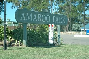 Amaroo Park - The Amaroo Park sign fronting Annangrove Road is still in place.