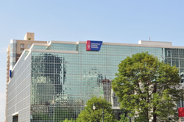 Exterior view of the American Cancer Society Center in Downtown Atlanta, Georgia
