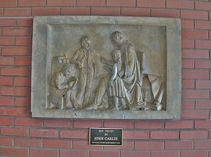 American School for the Deaf - Image: American School for the Deaf Sculptured Panel from Original Gallaudet Monument (1854) January 2016