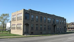 National Register of Historic Places listings in Lake County, Indiana - Image: American Sheet and Tin Mill Apartment Building