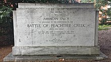 1944 dedication to the Battle of Peachtree Creek