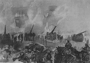 George Matthews Harding - Image: American gun fire, early morning, opening of Verdun offensive