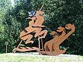 Amersfoort - Kunstwerk 'Sofie en de Draken' gemaakt door Jan Hinfelaar aan de Liendertseweg.JPG