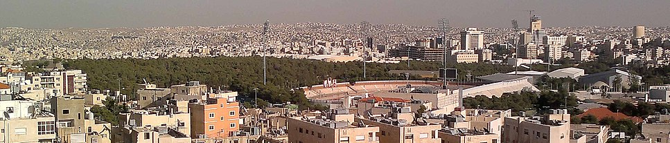 A panoramic view of Amman International Stadium in the Sport City