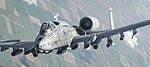 An A-10 Thunderbolt II departs after receiving fuel (33509382303).jpg