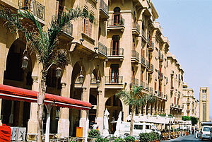 Culture of Lebanon - Rue Maarad is a main street in the central district