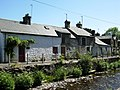An unusual range of terraced cottages on the banks of Afon Brennig, Tregaron - geograph.org.uk - 886038.jpg